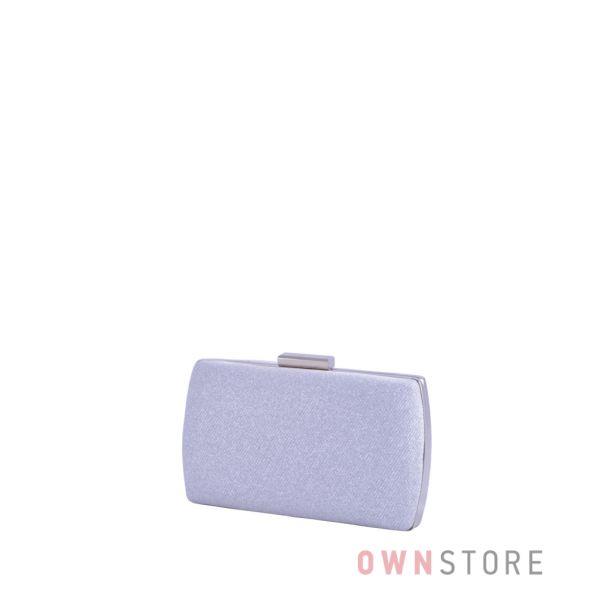 Купить онлайн клатч женский парчовый с блеском серебряный  от Rose Heart - арт.283