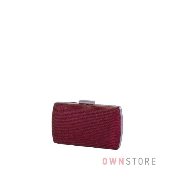 Купить онлайн клатч женский парчовый с блеском бордовый - арт.283