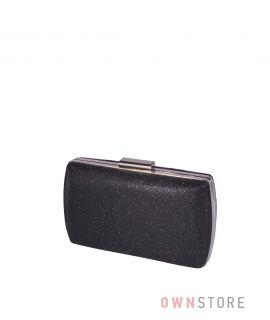 Купить онлайн клатч женский парчовый с блеском черный - арт.283