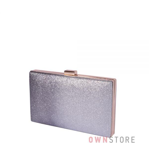 Купить онлайн клатч женский из парчи с серо-черным омбре - арт.633-3