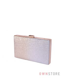 Купить онлайн клатч женский из парчи с серо-золотым градиентом - арт.633-3