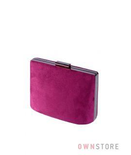 Купить онлайн сумочку - клатч женскую сиреневую замшевую  - арт.6616