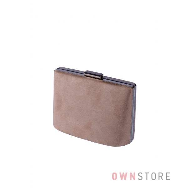 Купить онлайн сумочку - клатч  женскую бежевую замшевую  - арт.6616