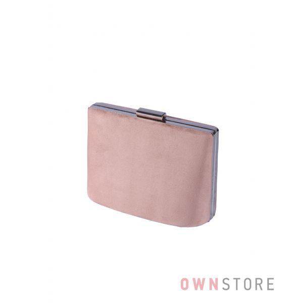 Купить онлайн сумочку - клатч женскую розовую замшевую  - арт.6616