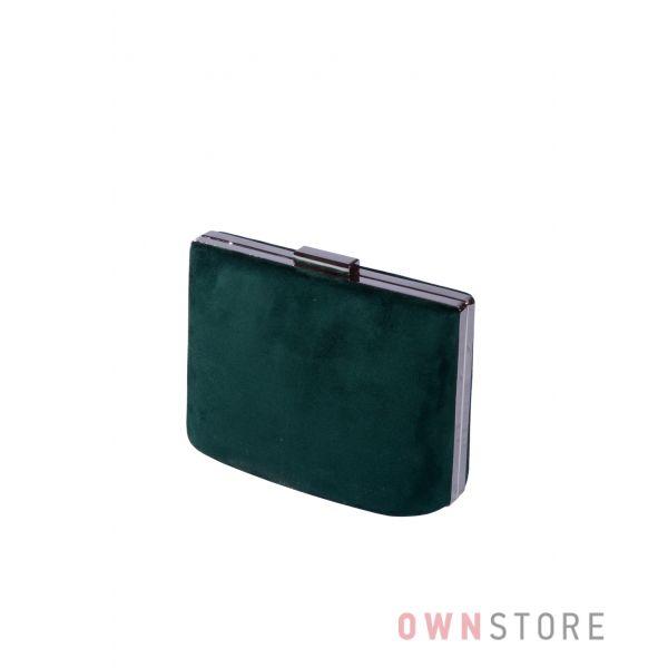 Купить онлайн сумочку - клатч женскую изумрудную замшевую - арт.6616