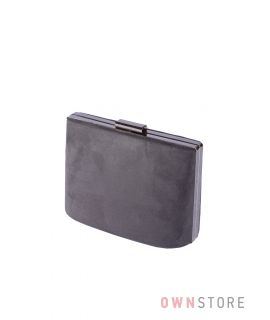 Купить онлайн сумочку - клатч женскую серую замшевую  - арт.6616