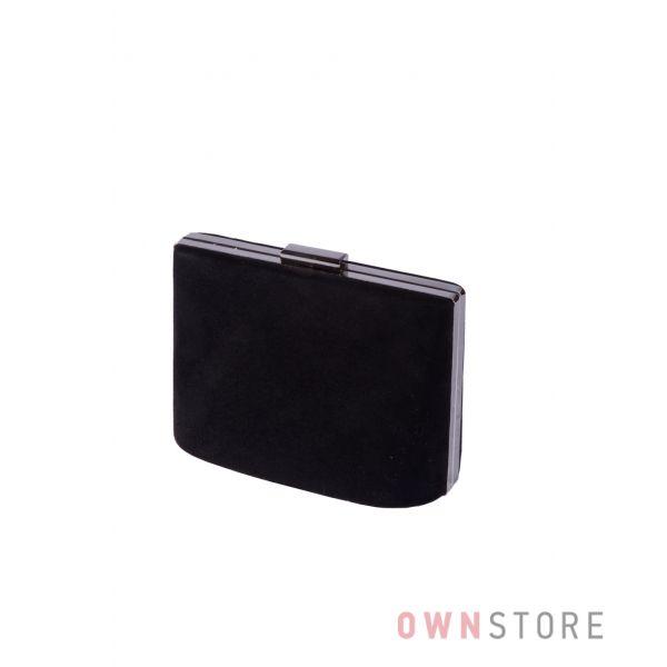 Купить онлайн сумочку - клатч женскую черную замшевую - арт.6616