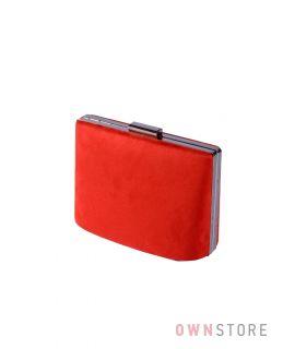 Купить онлайн сумочку женскую красную замшевую - арт.6616