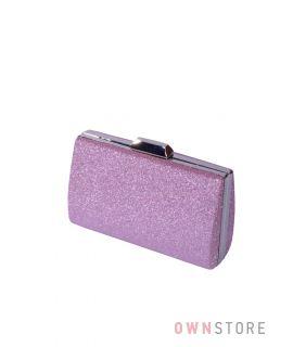 Купить онлайн парчовый женский бледно-пурпурный клатч - арт.7559