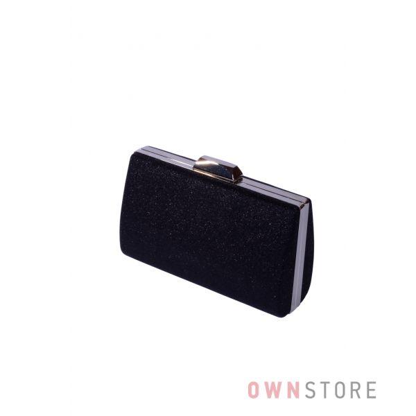 Купить онлайн парчовый женский черный клатч - арт.7559