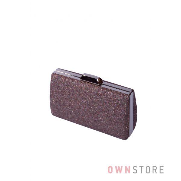 Купить онлайн парчовый женский пурпурно-коричневый клатч - арт.7559