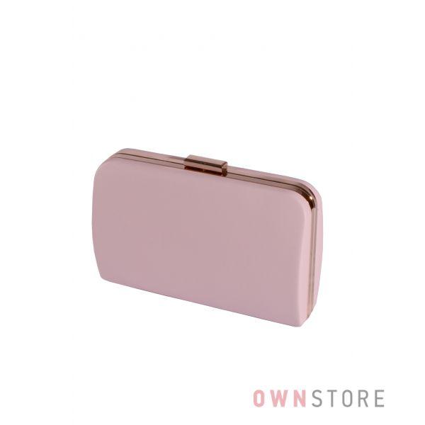 Купить онлайн большой женский нежно-лиловый клатч из кожзама - арт.7679