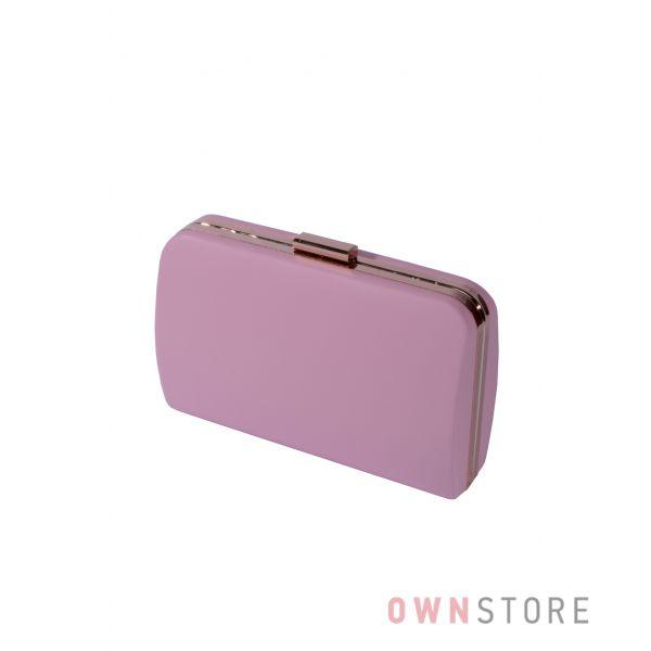 Купить онлайн большой женский розовый клатч из кожзама - арт.7679