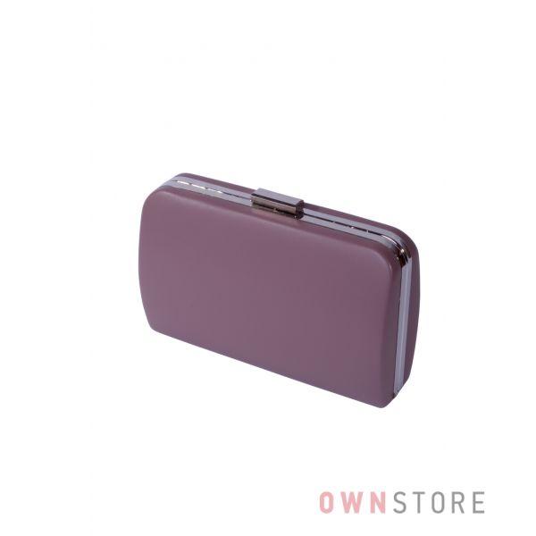 Купить онлайн большой женский темно-лиловый клатч из кожзама - арт.7679