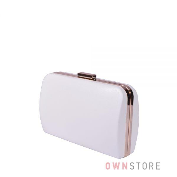 Купить онлайн большой белый  женский клатч из кожзама - арт.7679