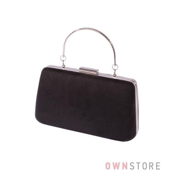 Купить онлайн клатч женский в форме трапеции замшевый черный - арт.7680