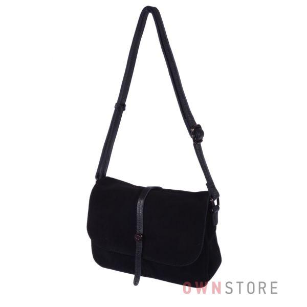 Купить онлайн сумочку-клатч женскую из натуральной замши - арт.20015