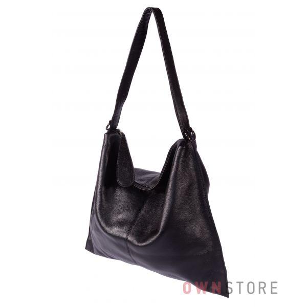 Купить онлайн сумку женскую из натуральной черной кожи - арт.20046