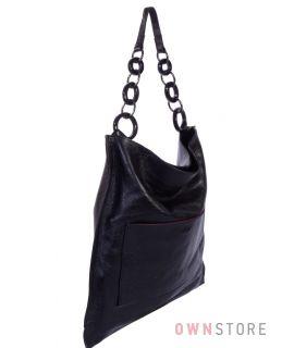 Купить онлайн большую прямоугольную женскую кожаную сумку - арт.260