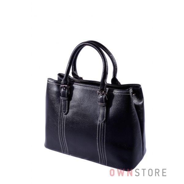 Купить онлайн черную классическую женскую деловую сумку - арт.3106