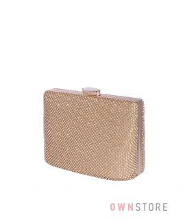 Купить онлайн сумочку-клатч женскую в стразах золотую - арт.43001
