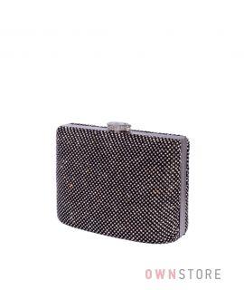 Купить онлайн сумочку-клатч женскую в стразах черную - арт.43001