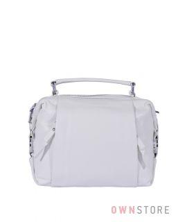 Купить онлайн сумочку женскую белую с  карманами впереди - арт.5113