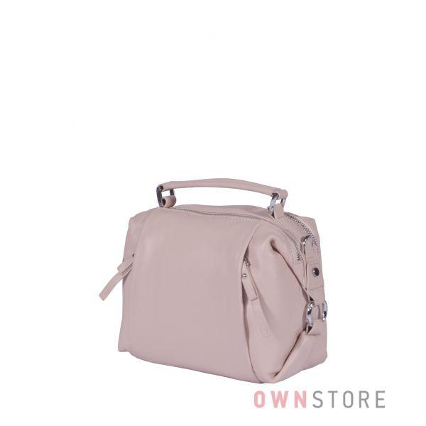 Купить онлайн сумочку женскую  пудровую с  карманами впереди - арт.5113