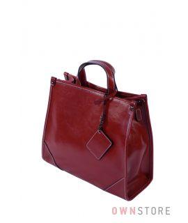 Купить онлайн сумку женскую кожаную красную прямоугольную - арт.5981
