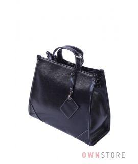 Купить онлайн сумку женскую кожаную черную прямоугольную - арт.5981