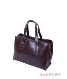 Небольшая коричневая сумочка из кожи(арт.5988)