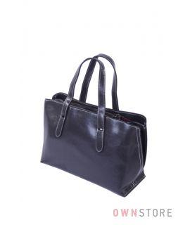 Купить онлайн небольшую серую женскую сумочку из кожи - арт.5988