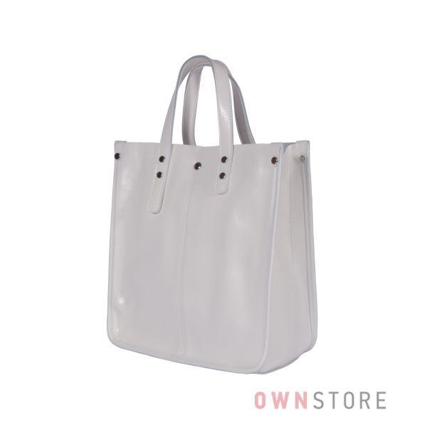 Купить онлайн сумку женскую классическую прямоугольную белую - арт.643
