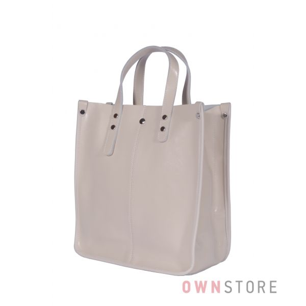 Купить онлайн сумку женскую классическую прямоугольную кремовую - арт.643