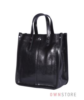 Купить онлайн сумку женскую классическую прямоугольную черную - арт.643