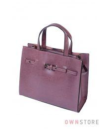 Небольшая сумка цвета фуксии с ремешком впереди(арт.6607)