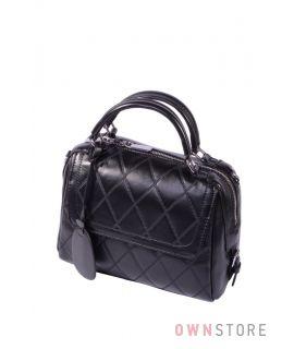 Купить онлайн сумку-бочонок женскую кожаную на двух ручках - арт.682