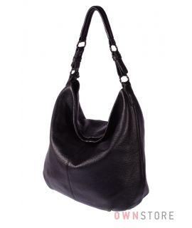 Кожаная сумка - мешок на одной ручке(арт.79152)