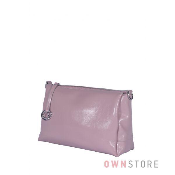 Купить онлайн небольшую женскую сумочку через плечо цвета нежная сирень  - арт.801103