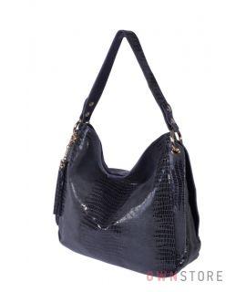Купить онлайн сумку женскую на одной ручке из серого лазера - арт.8023
