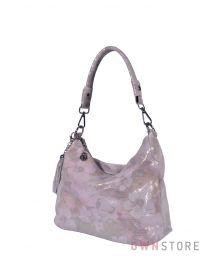 Сумка-мешок нежно-розовая с цветами(арт.8062)