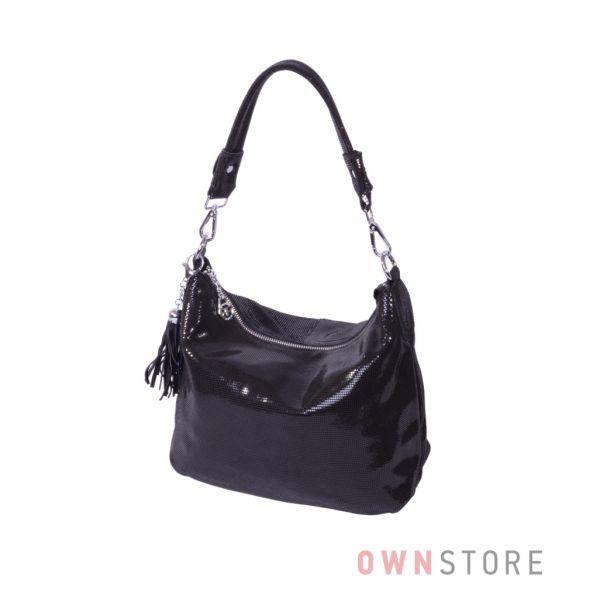 Купить онлайн женскую сумку от Фарфалла Россо черную из лазера - арт.8062