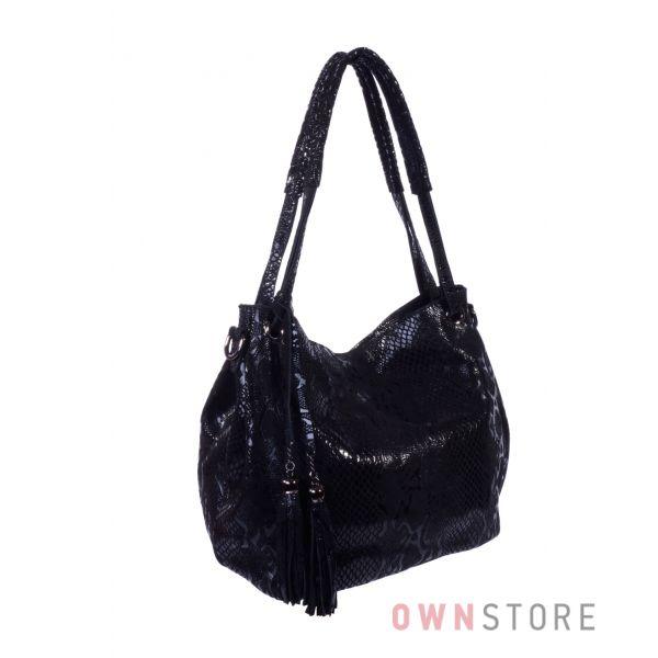 Купить онлайн сумку женскую  из лазера с двумя ручками - арт.8083