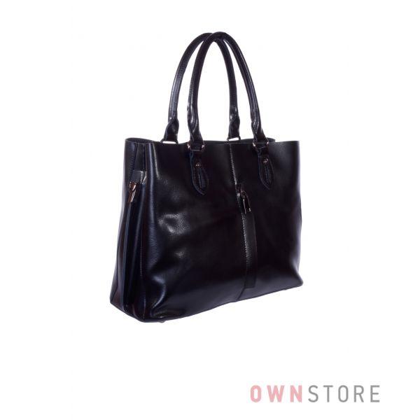 Купить онлайн сумку женскую кожаную с карманом впереди - арт.80