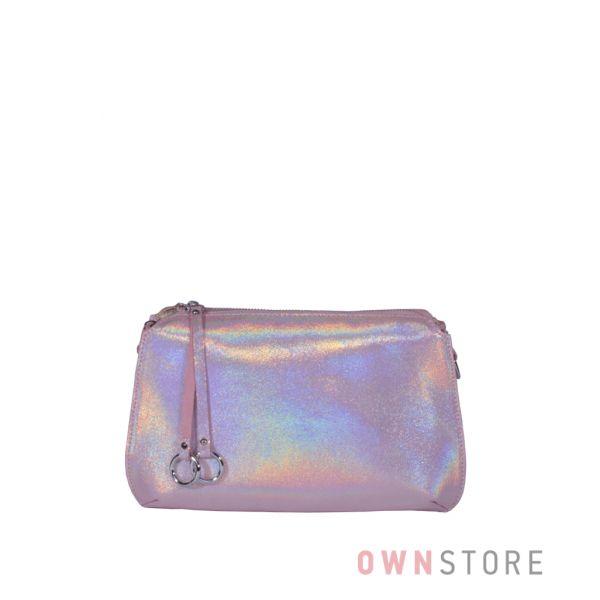 Купить онлайн небольшую розовую женскую сумочку из лазера - арт.8288