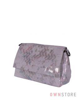 Купить онлайн сумку женскую нежно-розовую с чешуйками из лазера от Farfalla Rosso  - арт.856