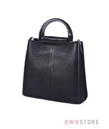Кожаная черная сумочка(арт.9912)