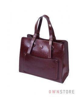 Небольшая коричневая сумка на три отделения(арт.9968)