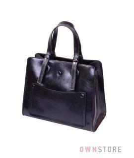 Небольшая черная сумка на три отделения(арт.9968)