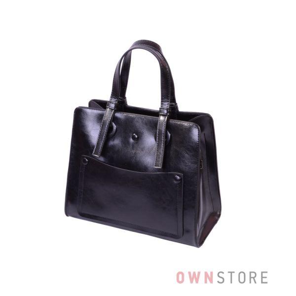 Купить онлайн небольшую черную женскую сумку на три отделения - арт.9968